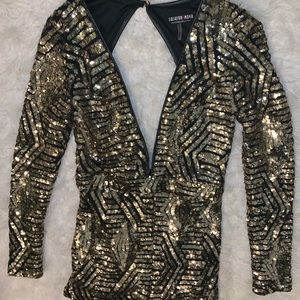 Fashion nova size small sparkly romper